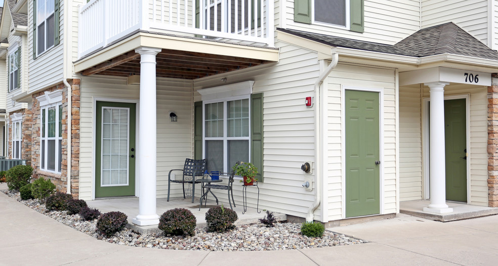 Personal Patio Areas at Lehigh Park Apartments in Henrietta, NY