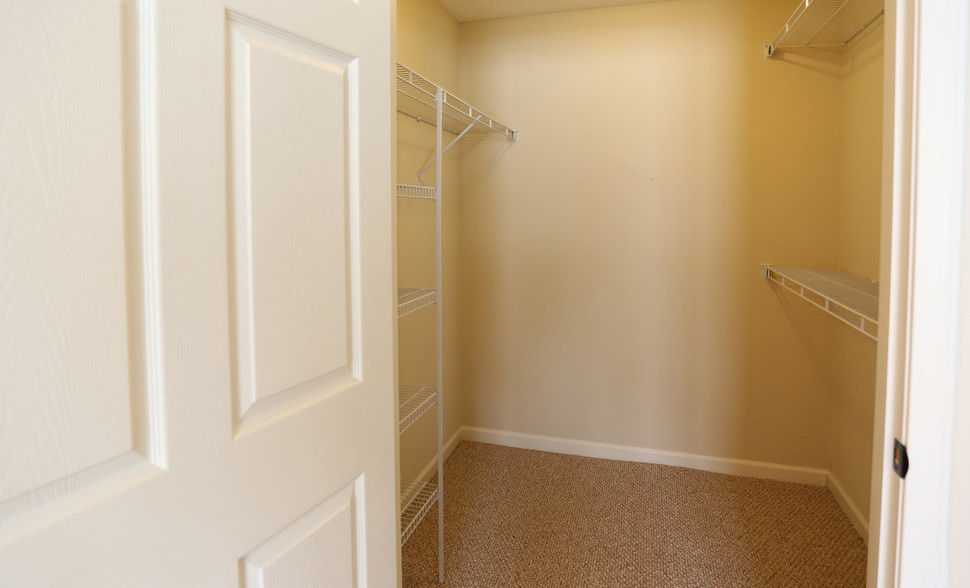 Spacious Walk-In Closets at Lehigh Park Apartments in Henrietta, NY