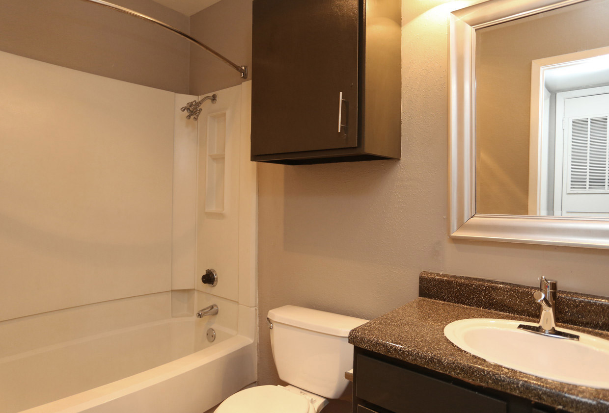 Bathtub and Shower Combination at The Lexington Apartments in Grand Prairie, TX