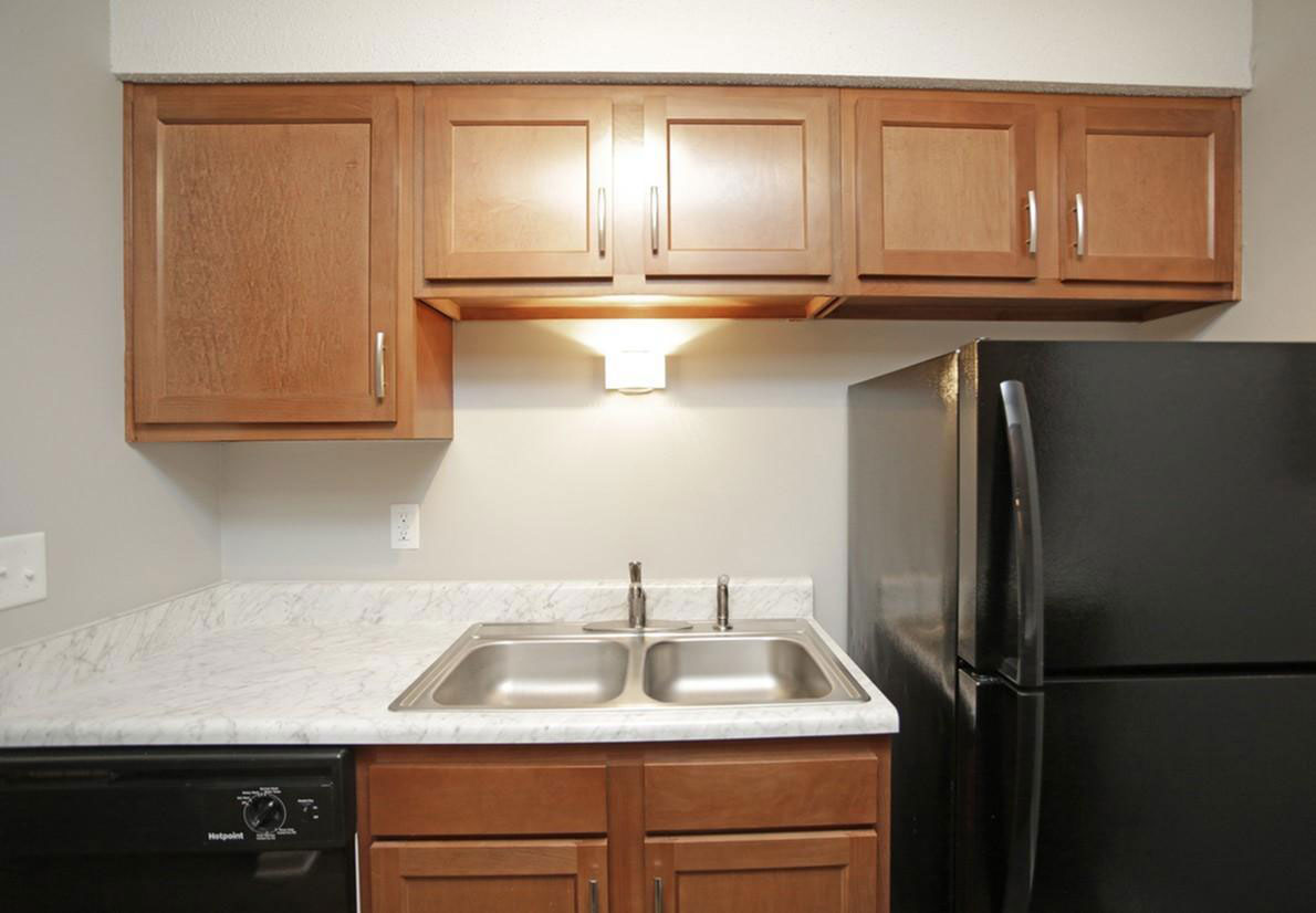 Black Appliance Package at Liberty Heights Apartments in Liberty, MO
