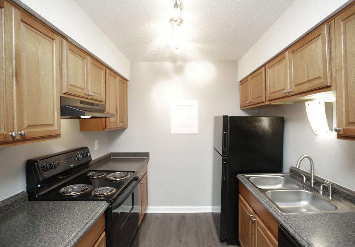 Upgraded Kitchens at Liberty Heights Apartments in Liberty, MO