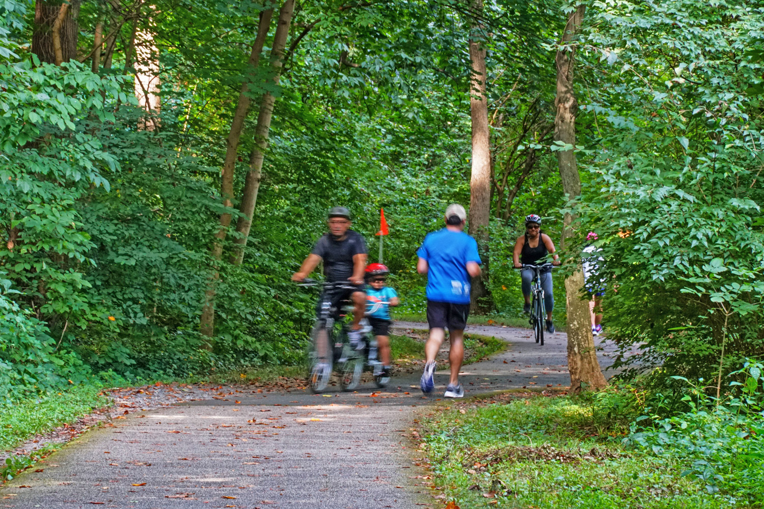 7-mile paved Sligo Creek Trail 5 Minutes from Liberty Place Apartments