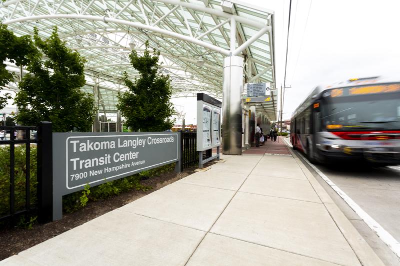 Walking distance to Takoma Langley Crossroads Transit Center
