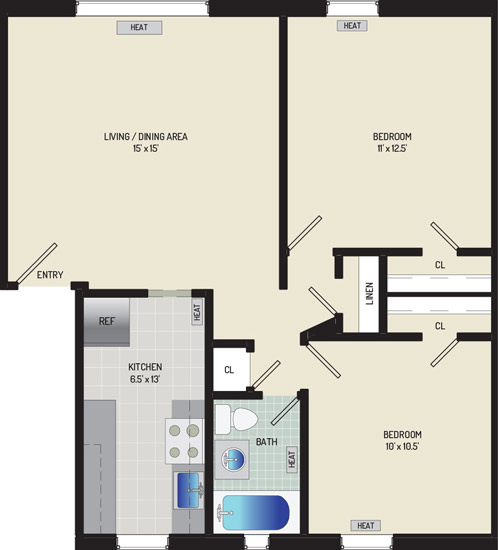 Liberty Place Apartments - Apartment 227912-02-D2