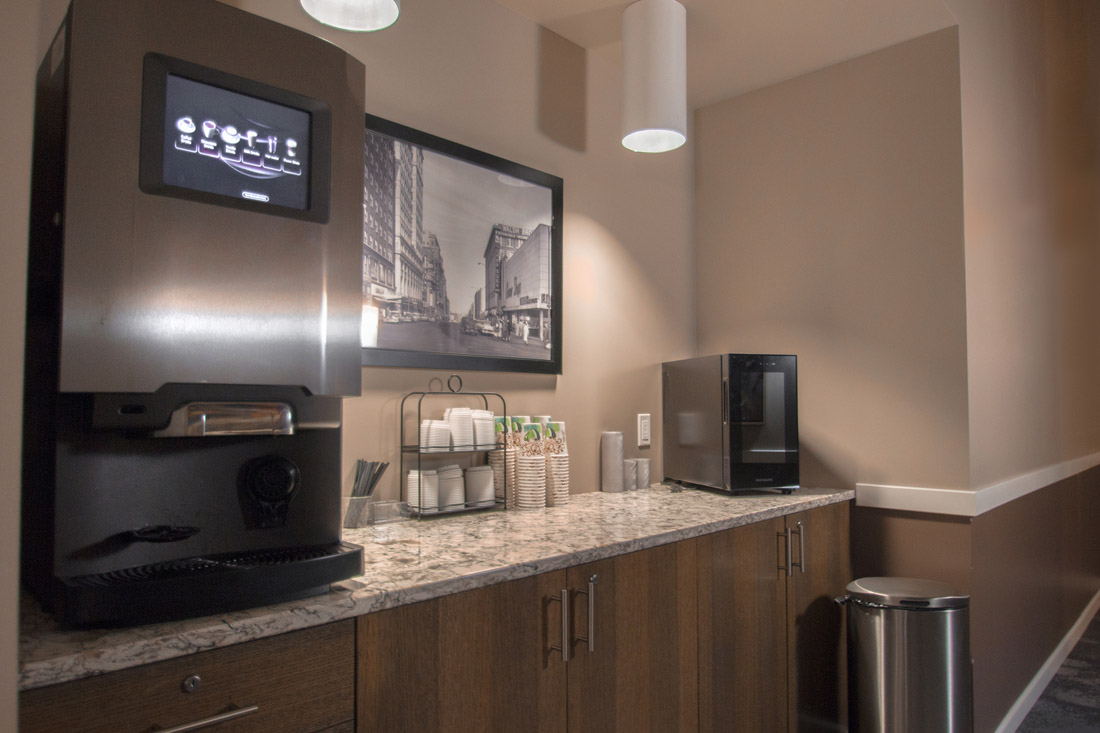 Complimentary Coffee Bar at Limelight at Sixteenth Apartments in Omaha, NE