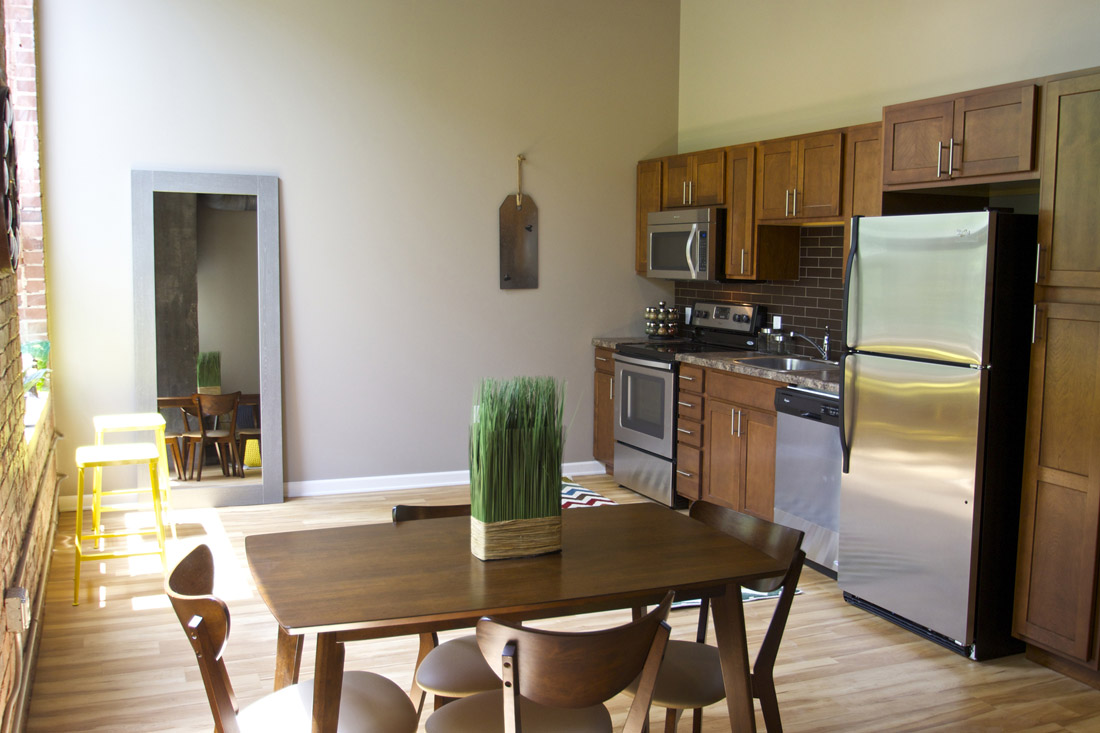 Stainless Steel Appliances at Limelight at Sixteenth Apartments in Omaha, NE