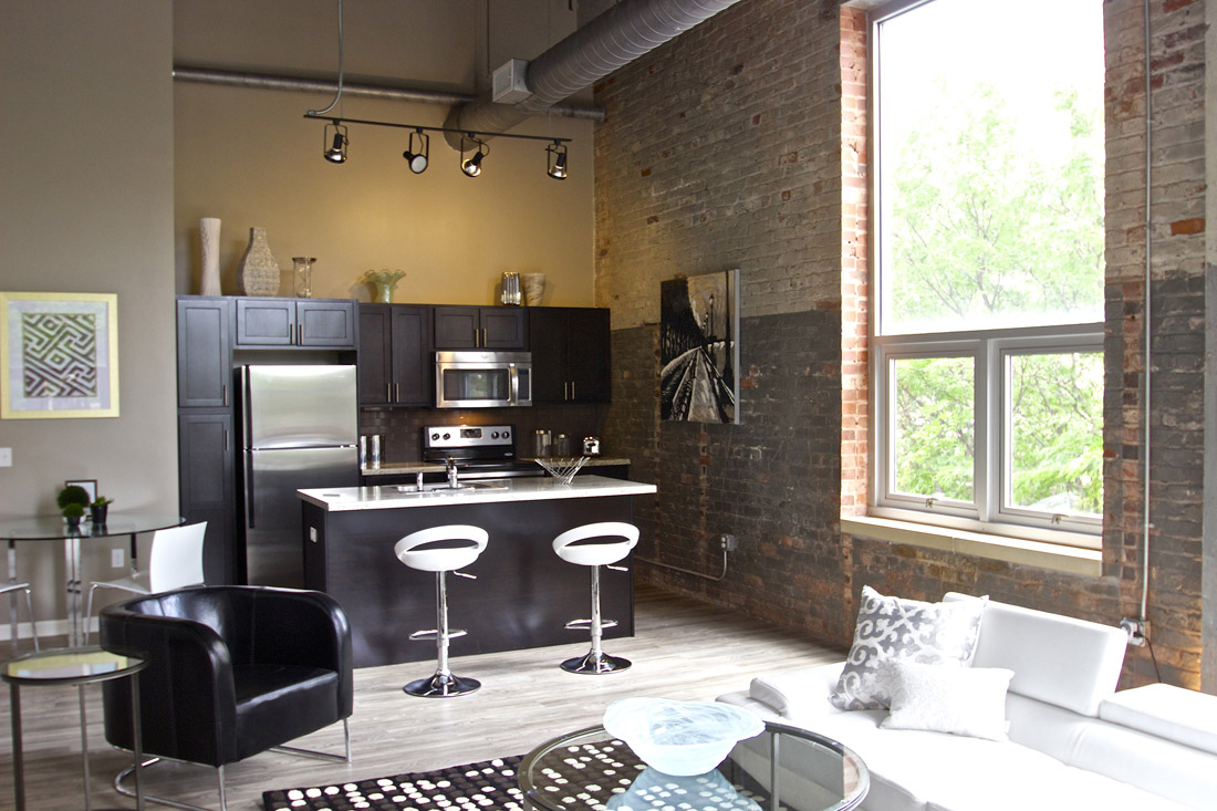 Kitchen Islands at Limelight at Sixteenth Apartments in Omaha, NE