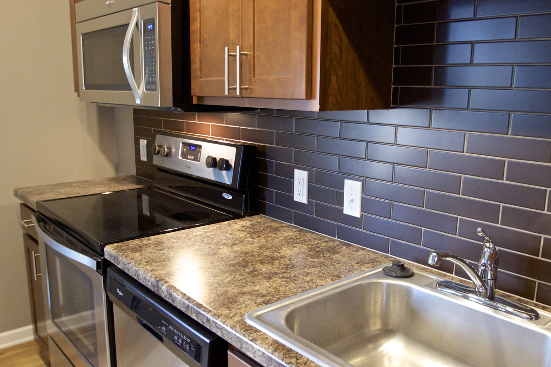 Modern Kitchens at Limelight at Sixteenth Apartments in Omaha, NE