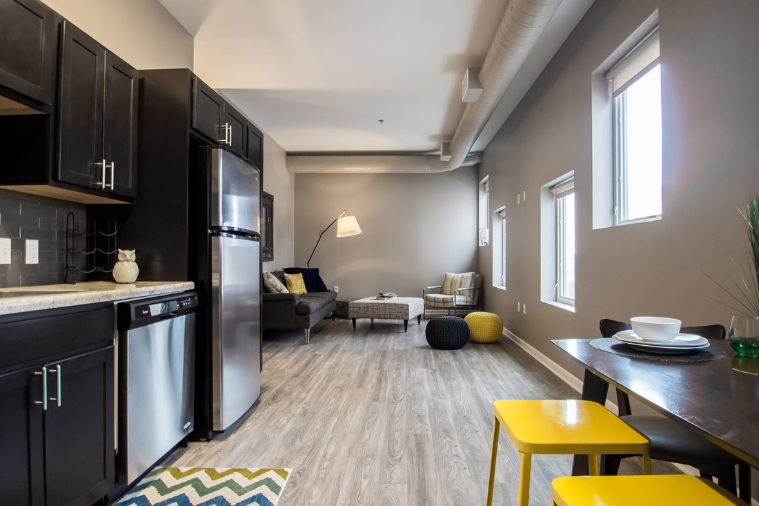 Spacious Kitchens at Limelight at Sixteenth Apartments in Omaha, NE