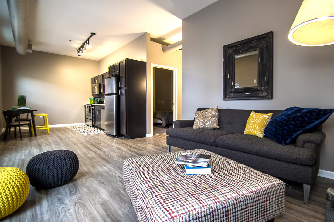 Spacious Living Rooms at Limelight at Sixteenth Apartments in Omaha, NE