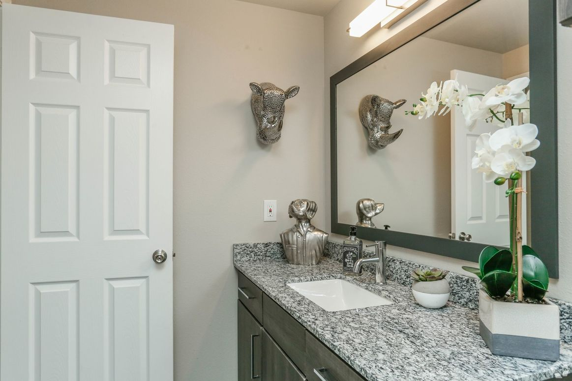 Upscale Fixtures at Limestone Apartments in Houston, Texas