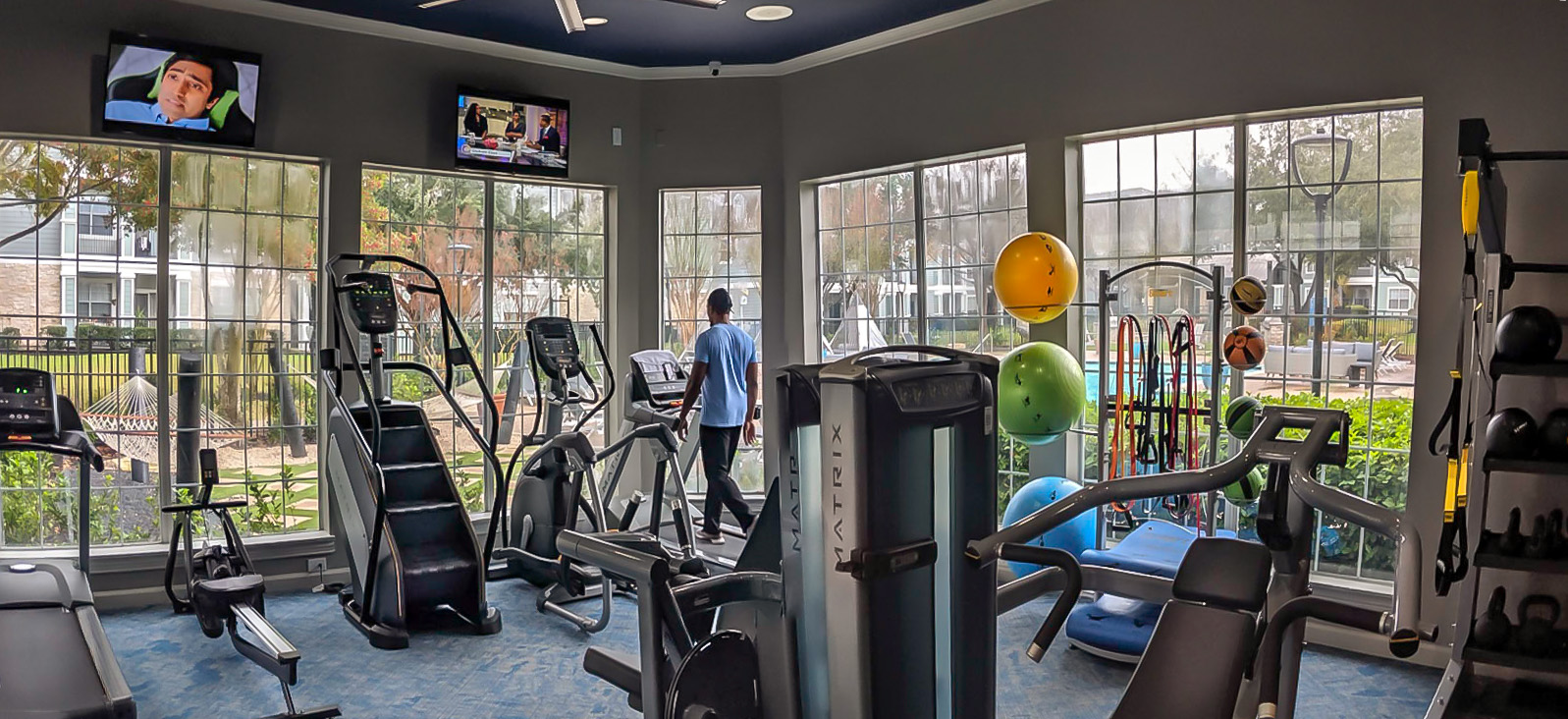 State-of-the-Art Fitness Center at The Link, a Community of Luxury Apartments in Houston, Texas