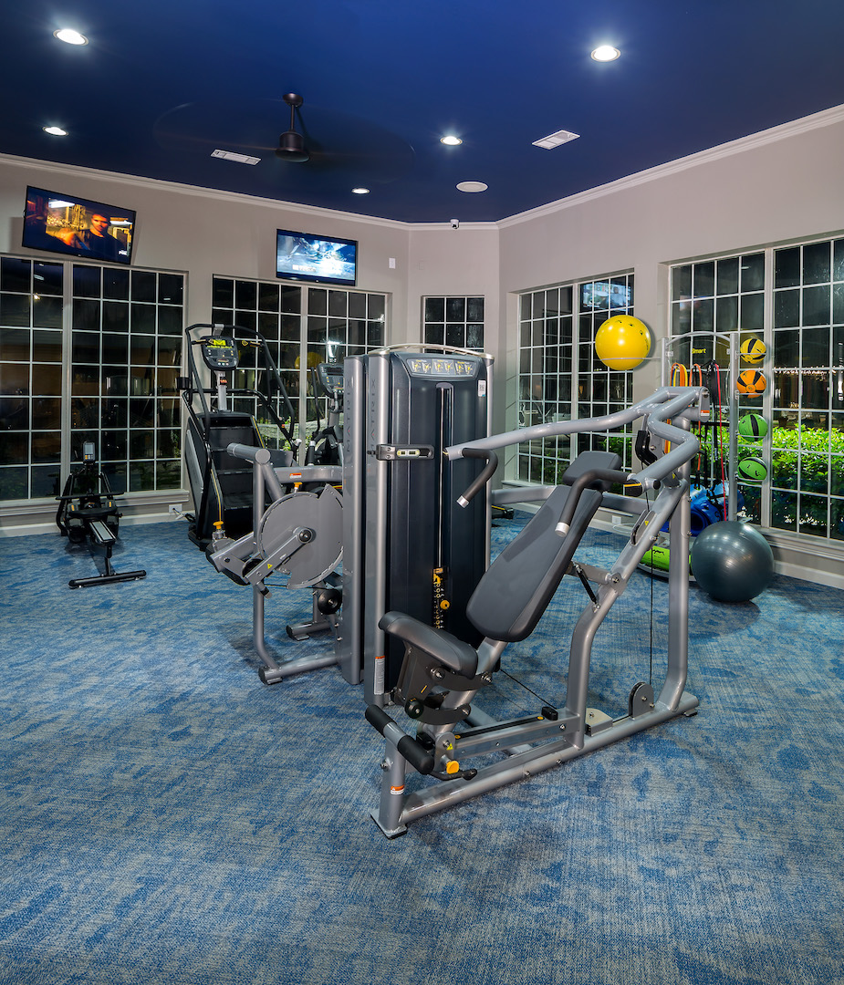 Weight Machines at The Link, a Community of Luxury Apartments in Houston, Texas