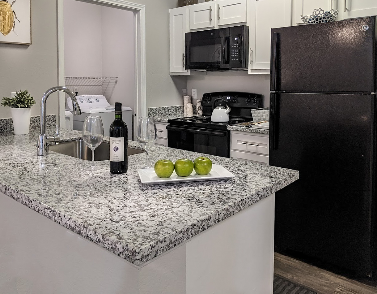Granite Countertops at The Link, a Community of Luxury Apartments in Houston, Texas