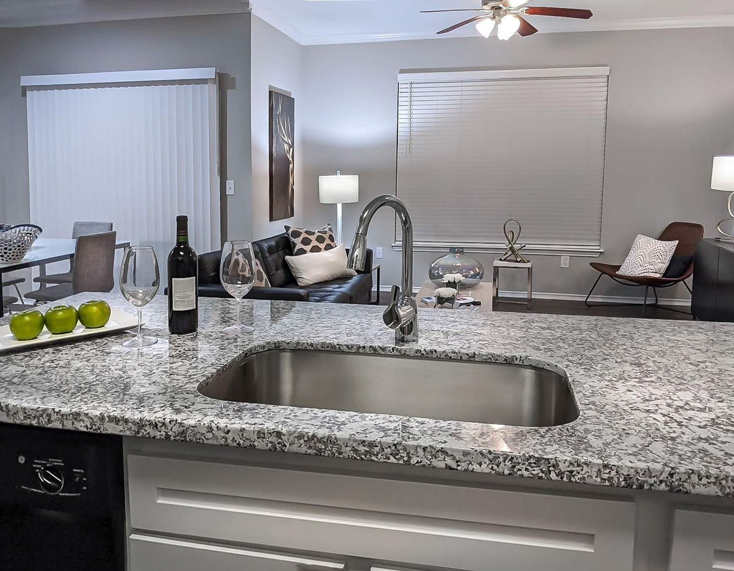 Large Sinks at The Link, a Community of Luxury Apartments in Houston, Texas