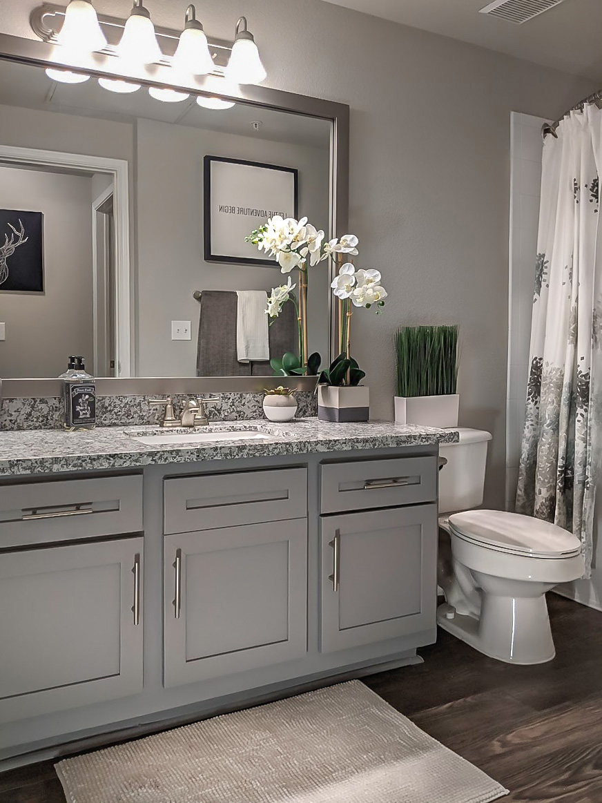 Sophisticated Bathrooms at The Link, a Community of Luxury Apartments in Houston, Texas