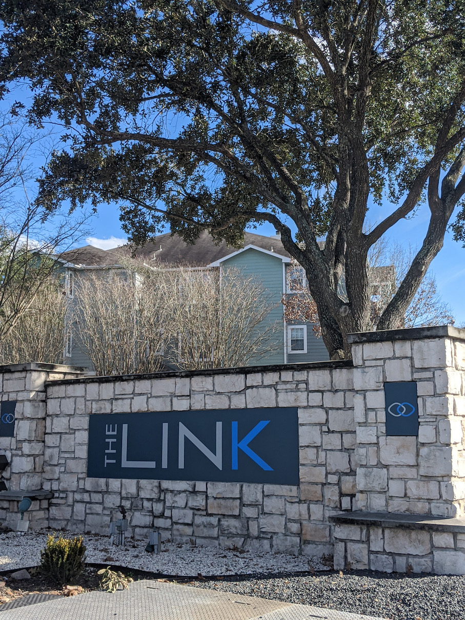 Welcome Signage at The Link, a Community of Luxury Apartments in Houston, Texas