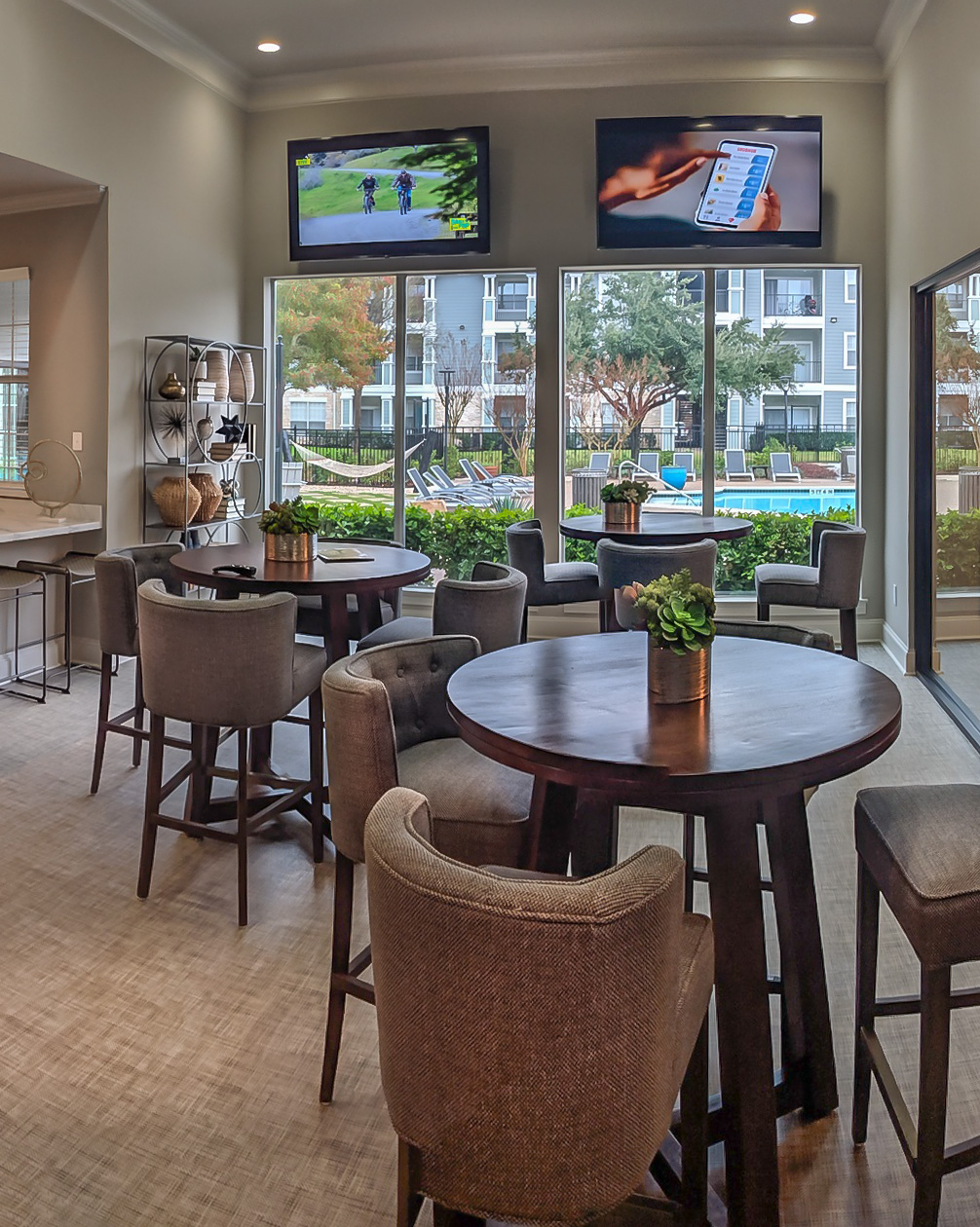 Resident Lounge Area at The Link, a Community of Luxury Apartments in Houston, Texas