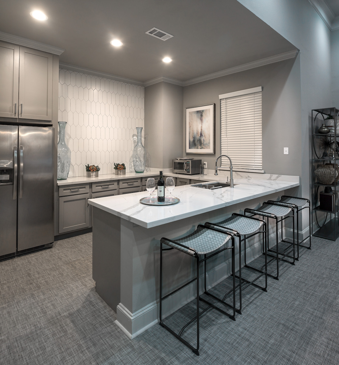 Community Kitchen at The Link, a Community of Luxury Apartments in Houston, Texas