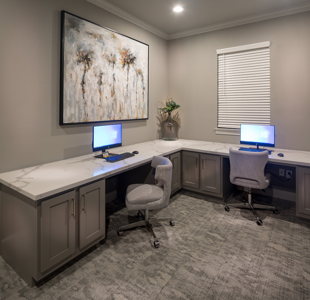 Business Center at The Link, a Community of Luxury Apartments in Houston, Texas