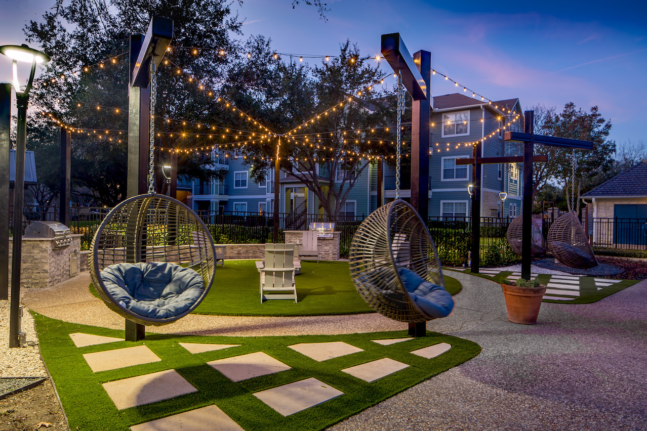 Community Courtyard at The Link, a Community of Luxury Apartments in Houston, Texas