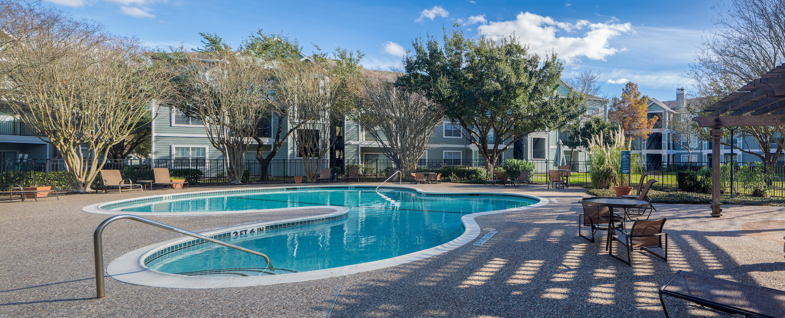 Resort-Style Pool at The Link, a Community of Luxury Apartments in Houston, Texas