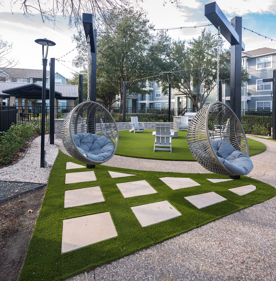 Outdoor Seating at The Link, a Community of Luxury Apartments in Houston, Texas
