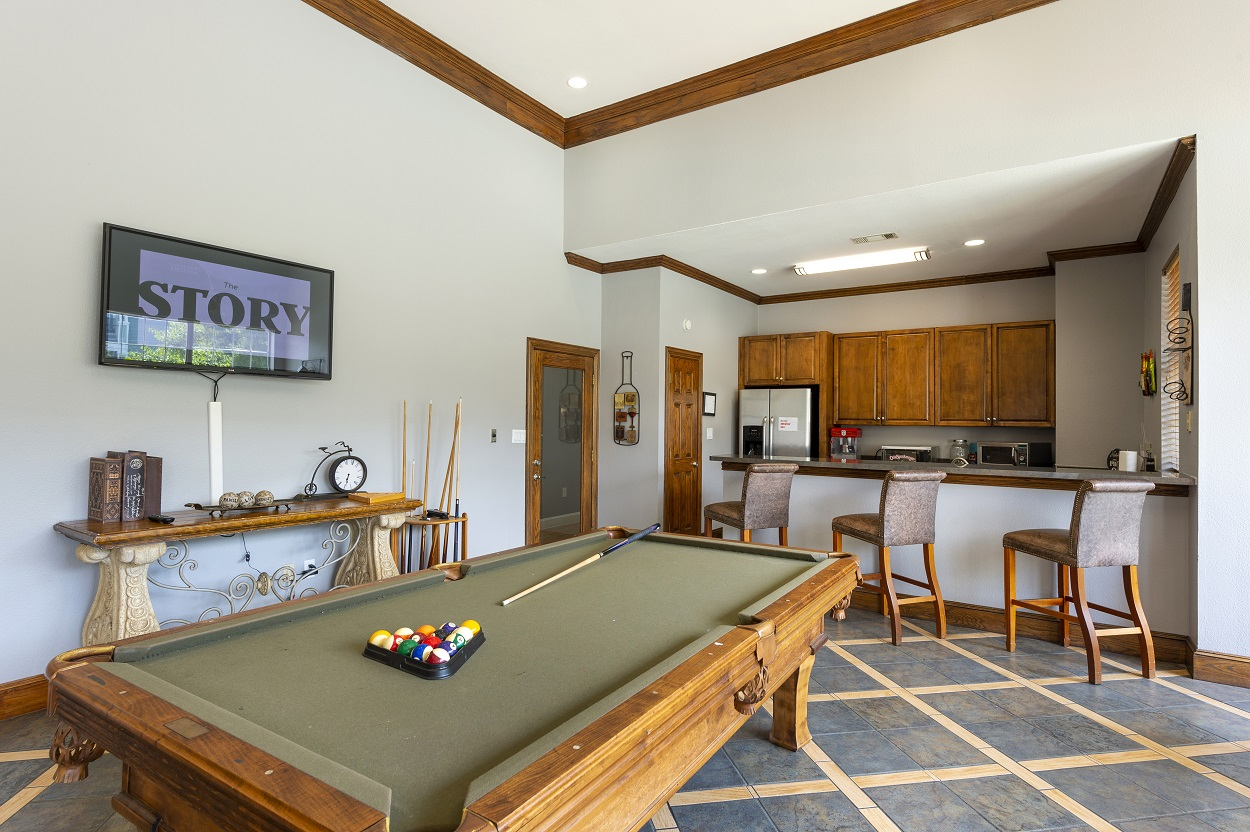 Clubhouse with Billiards Room at The Link Apartments in Houston, Texas