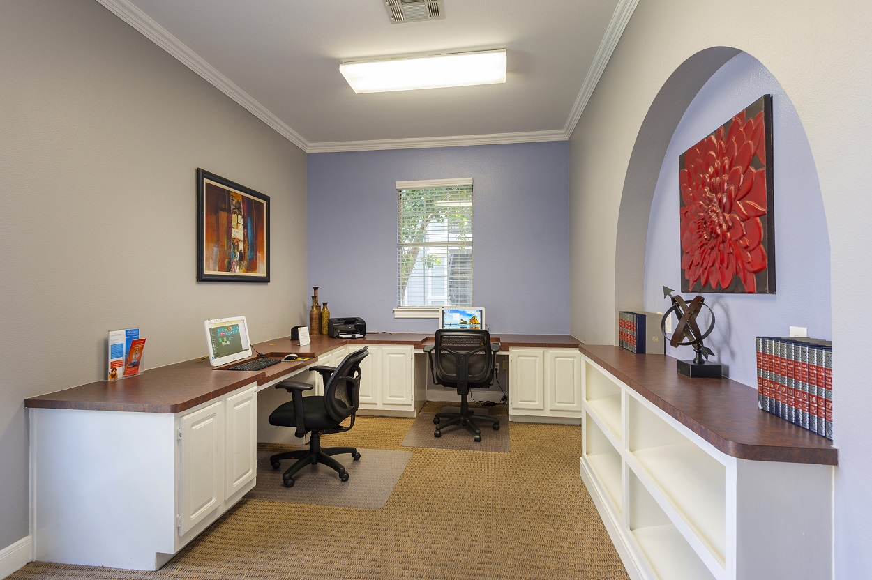 Professional Business Center at The Link Apartments in Houston, Texas