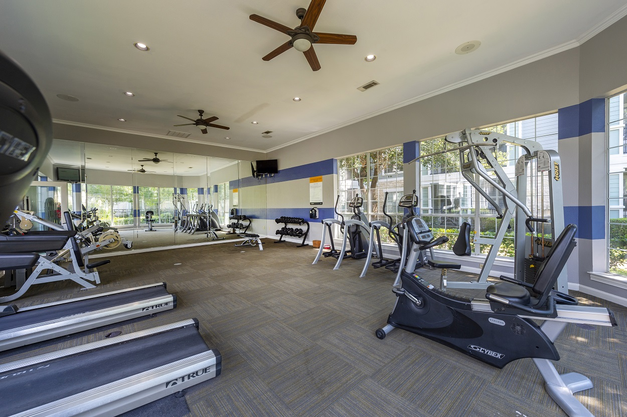 Fully-Equipped Fitness Center at The Link Apartments in Houston, Texas