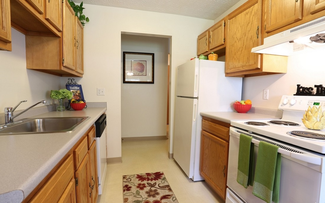 Kitchen at the Little Creek Garden Apartments in Rochester, NY