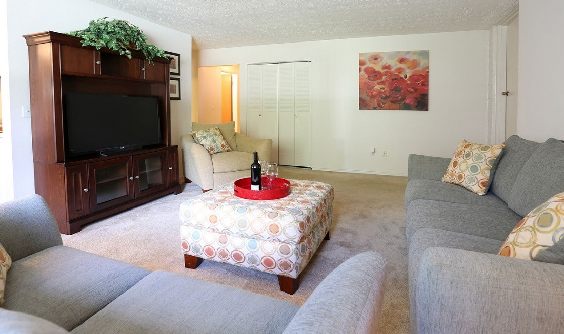 Living Room at the Little Creek Garden Apartments in Rochester, NY