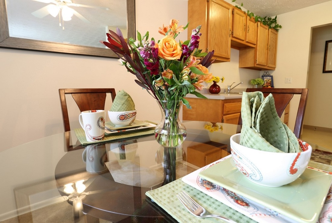 Dining Area at the Little Creek Garden Apartments in Rochester, NY
