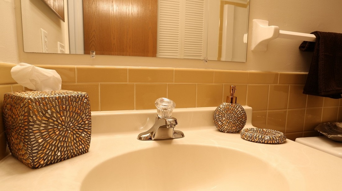 Bathroom at the Little Creek Garden Apartments in Rochester, NY