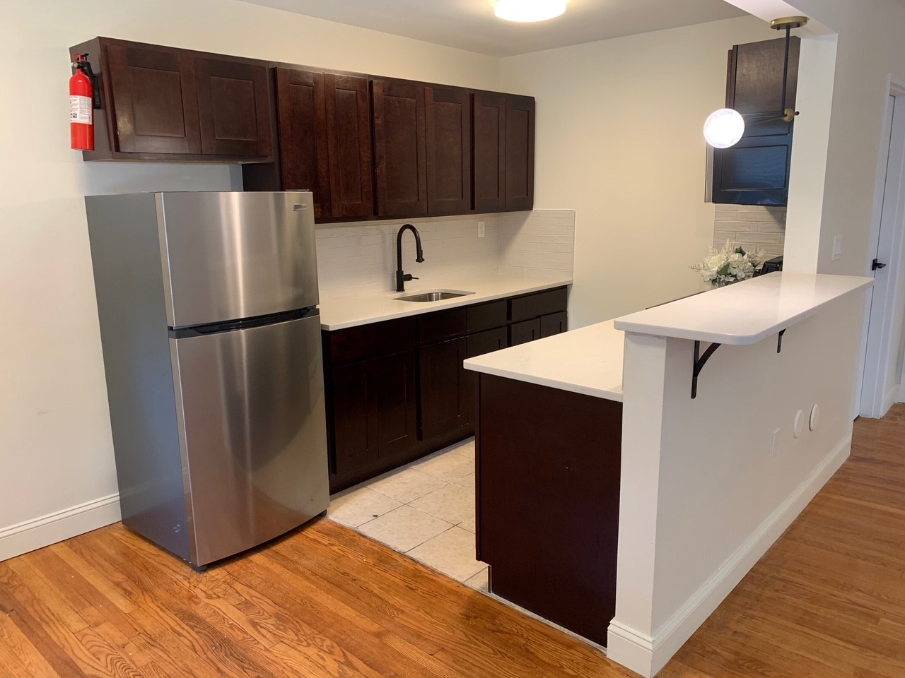Kitchen at Livingston Gardens Apartments in North Brunswick Township, New Jersey