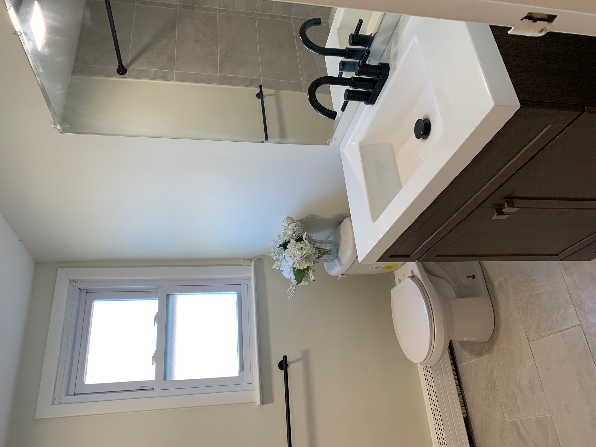 Bathroom at Livingston Gardens Apartments in North Brunswick Township, New Jersey