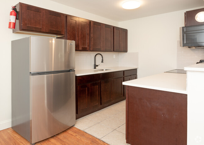 Stainless Steel Fridge at Livingston Gardens Apartments in North Brunswick Township, New Jersey