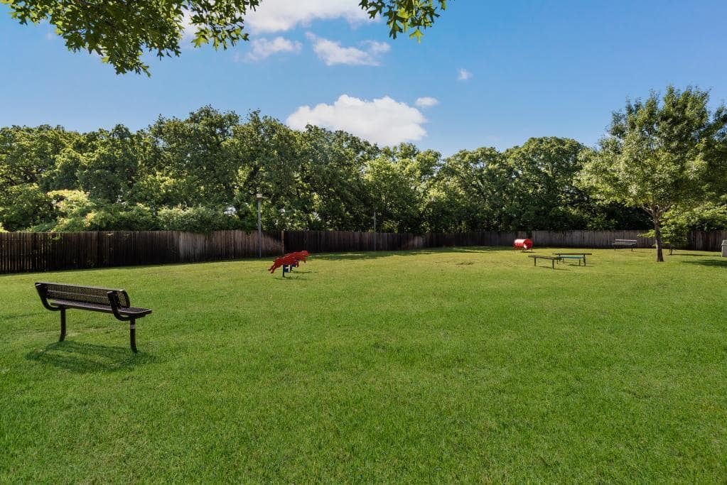 Pet-Friendly Bark Park at Lofton Place Apartments in Fort Worth, Texas