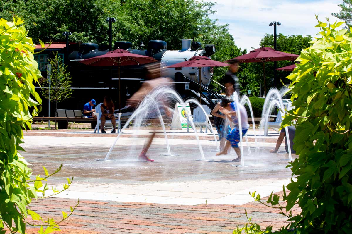 Water Park at Bohrer Park is 5 minutes from at Londonderry Apartments in Gaithersburg, MD