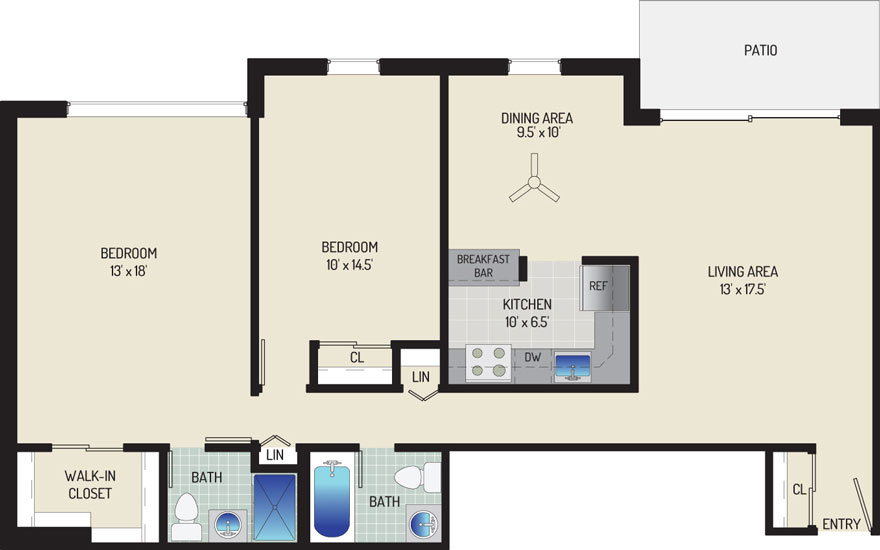 Londonderry Apartments - Apartment 50K025-101-W