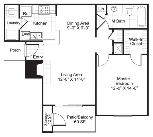 Westmount at London Park Luxury Apartment Homes - Floorplan - A2