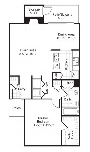 Westmount at London Park Luxury Apartment Homes - Floorplan - A3