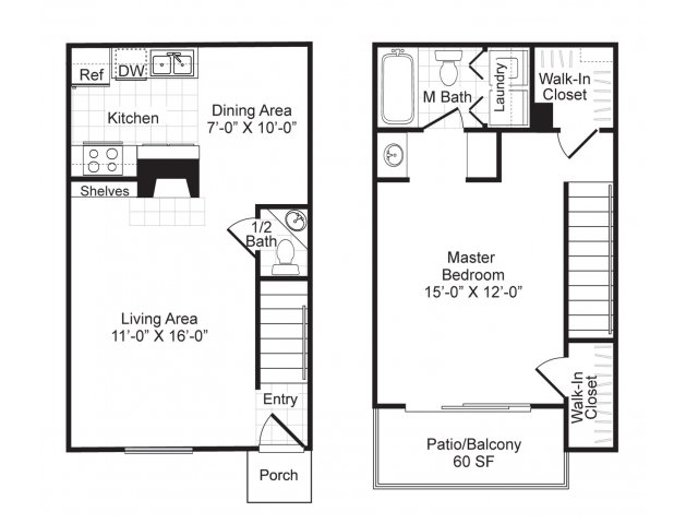Westmount at London Park Luxury Apartment Homes - Floorplan - A4