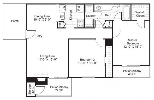 Westmount at London Park Luxury Apartment Homes - Floorplan - B1