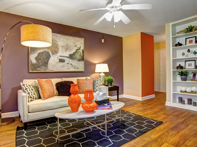 Wood-Style Flooring at Westmount at London Park Apartments in Houston, TX
