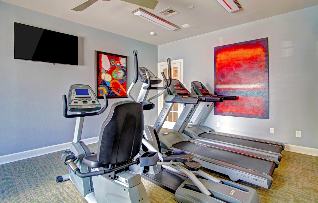 Fitness Center at Westmount at London Park Apartments in Houston, TX