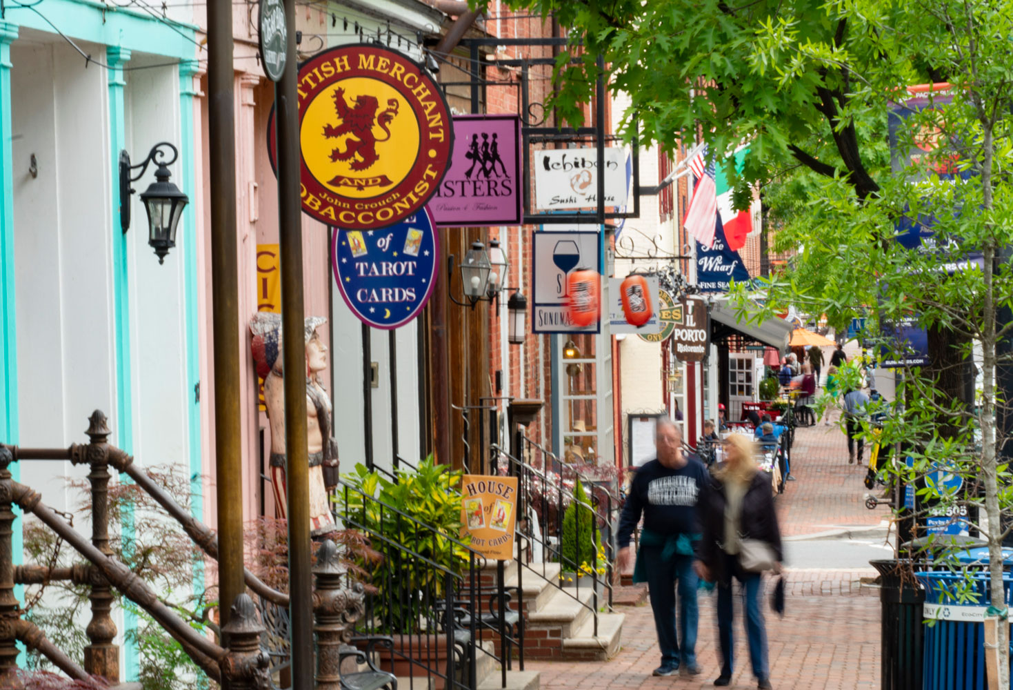 Old Town Alexandria is 15 minutes from London Park Towers Apartments in Alexandria, VA