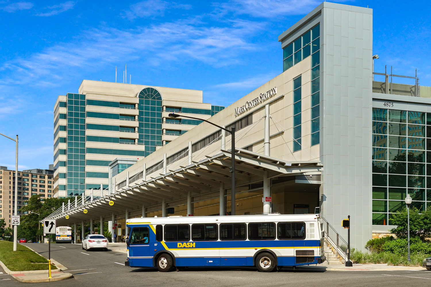 Mark Center Transit station is 10 minutes from London Park Towers Apartments