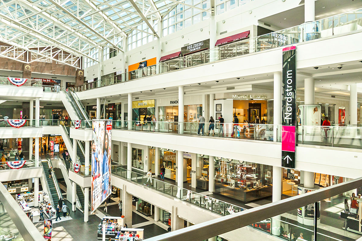 Fashion Centre at Pentagon City is 10 minutes from London Park Towers Apartments