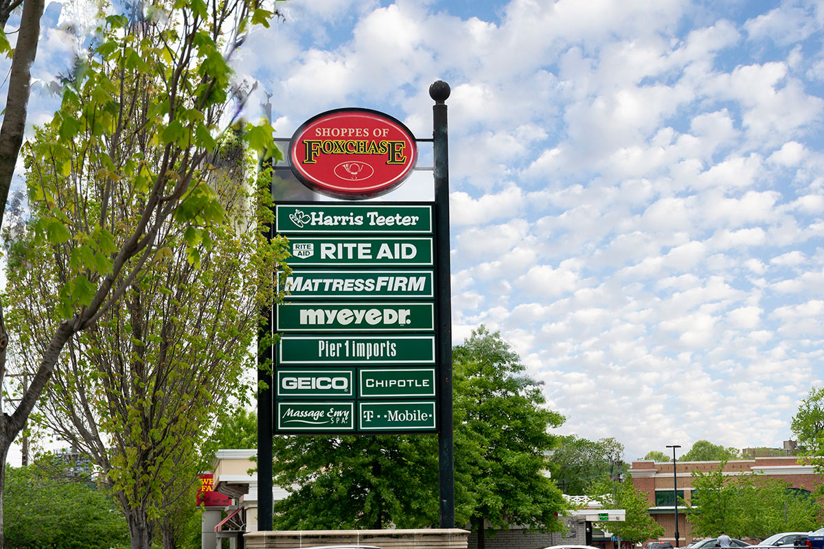 Shoppes of Foxchase is 5 minutes from London Park Towers Apartments